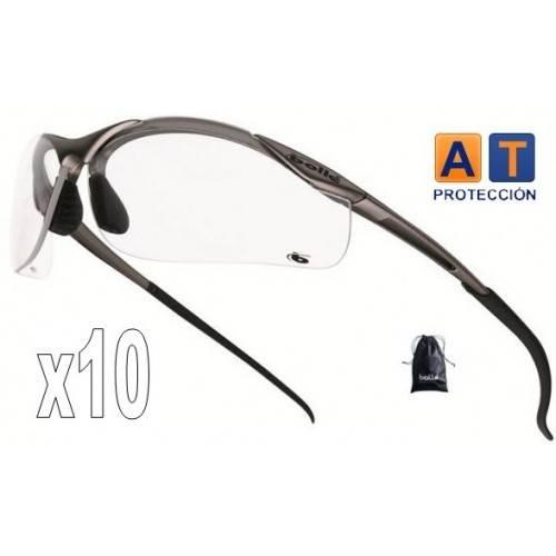 Pack 10 gafas BOLLE CONTOUR Platinum transparentes