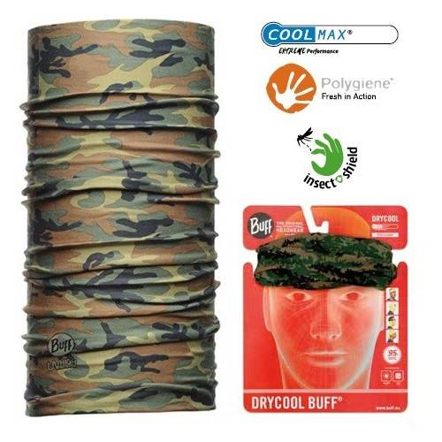 Tubular Buff Drycool Camuflaje