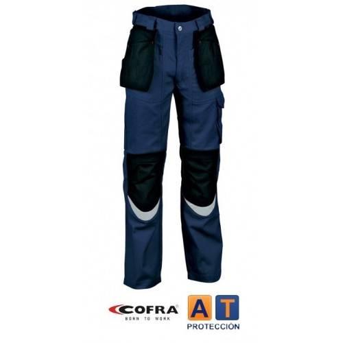 Pantalón tergal COFRA Carpenter azul-negro